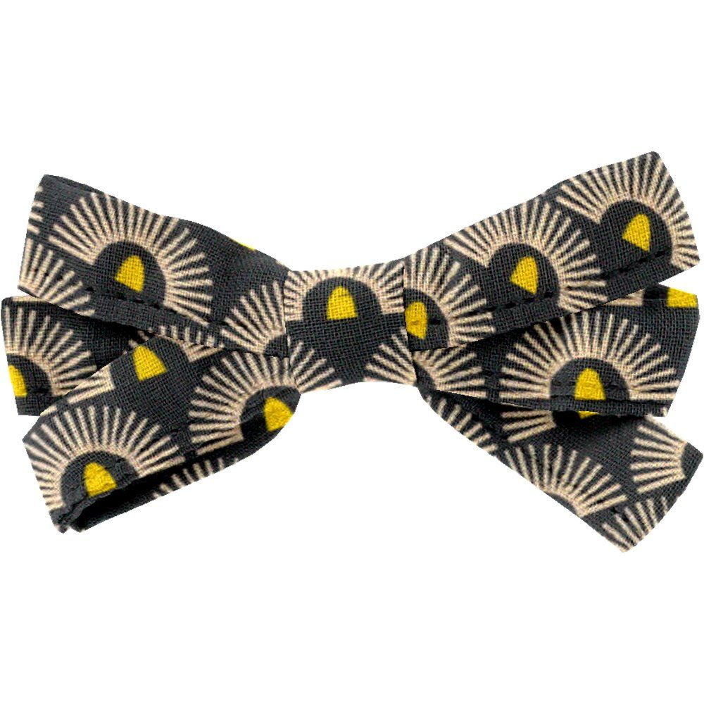 Ribbon bow hair slide inca sun