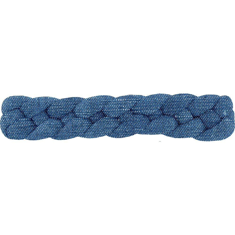 Plait hair slide light denim