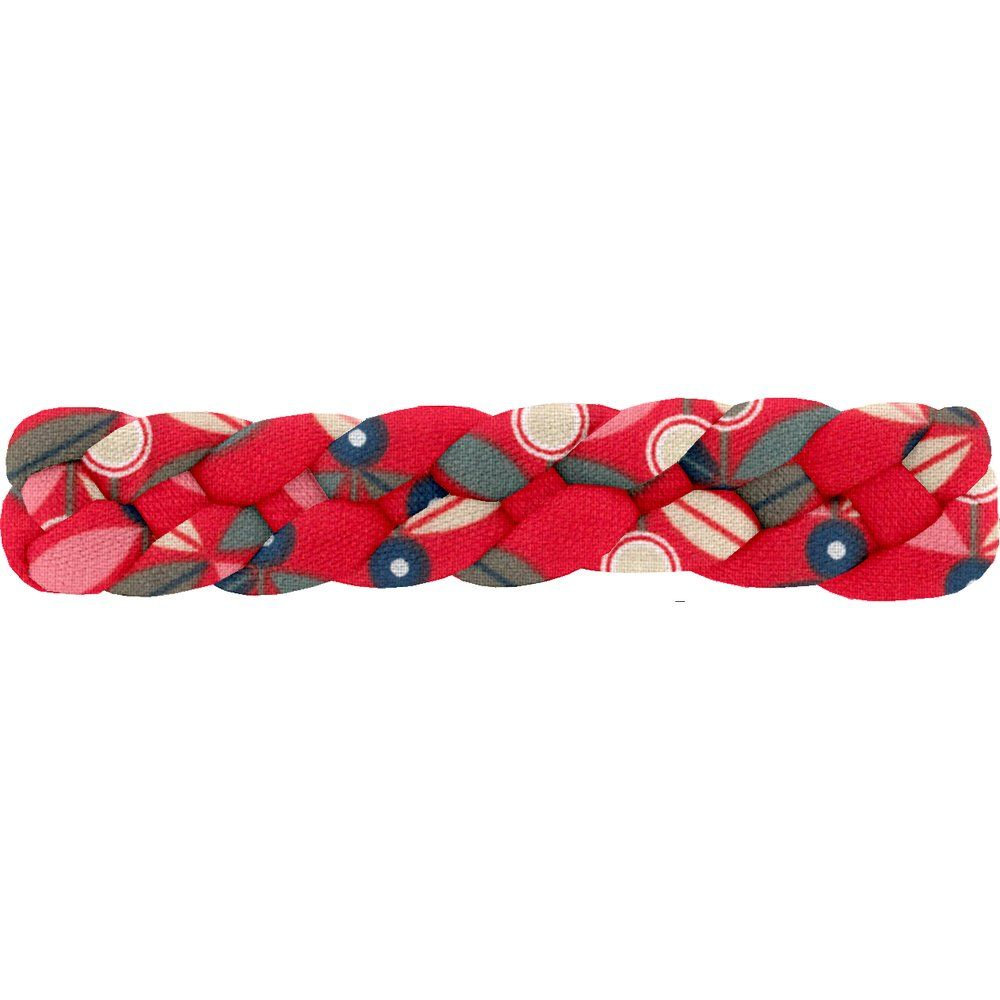 Plait hair slide paprika petal