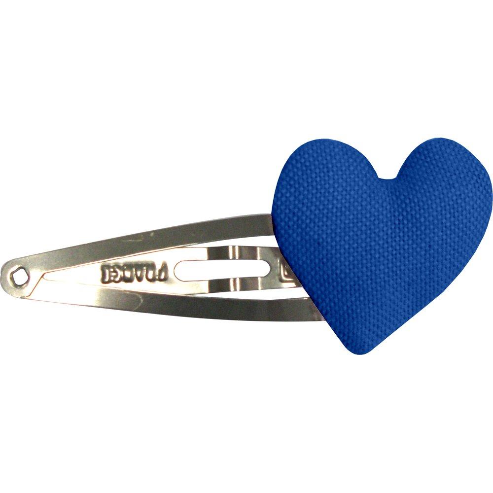 Heart hair-clips navy blue