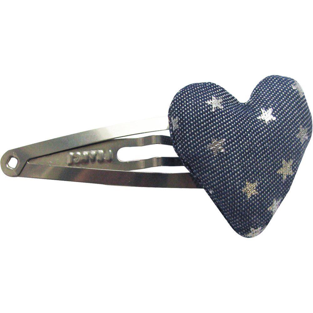 barrette clic-clac cœur etoile argent jean