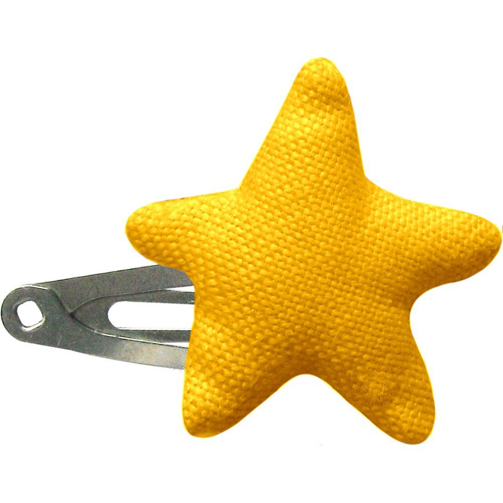 Star hair-clips yellow ochre