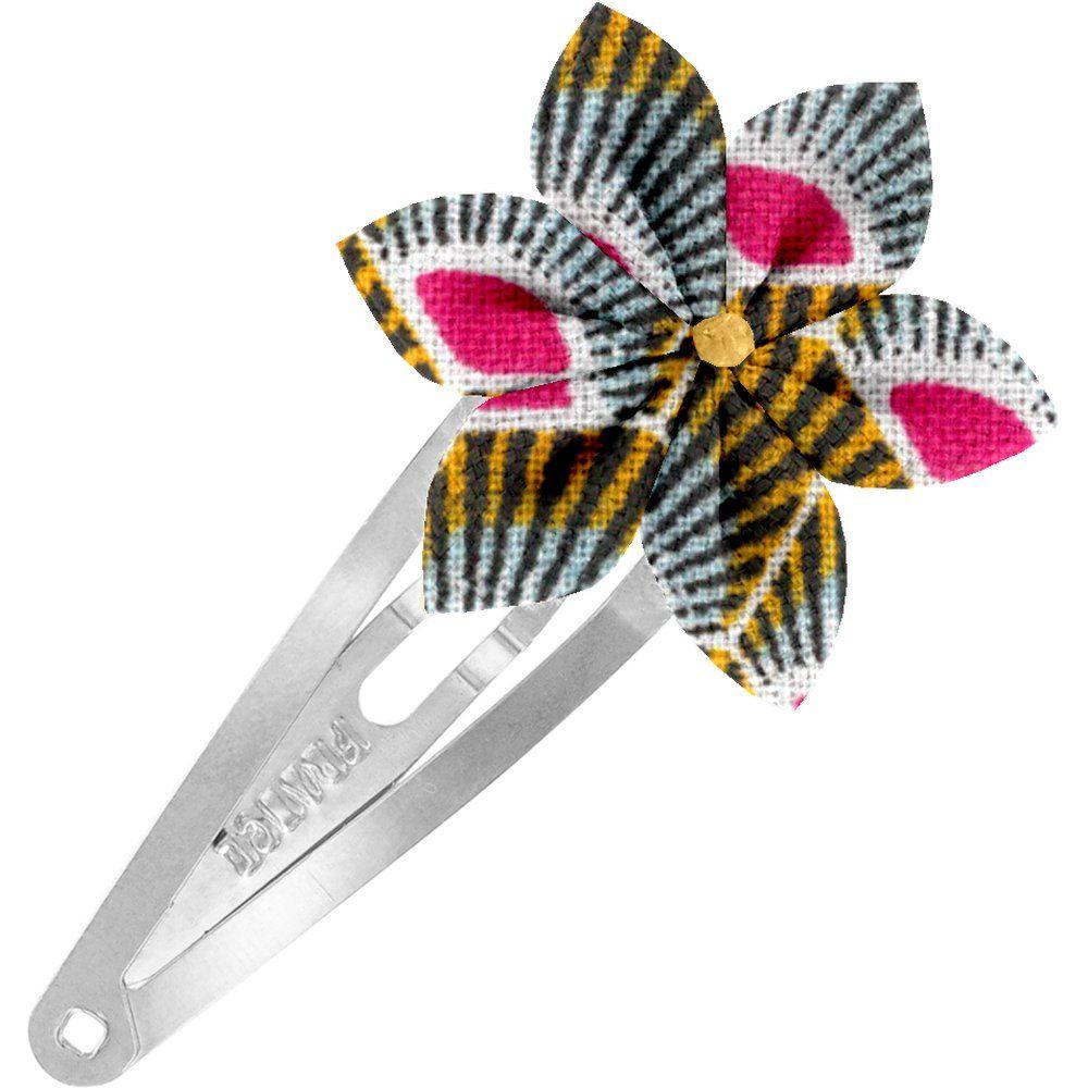 Barrette clic-clac fleur étoile palmette