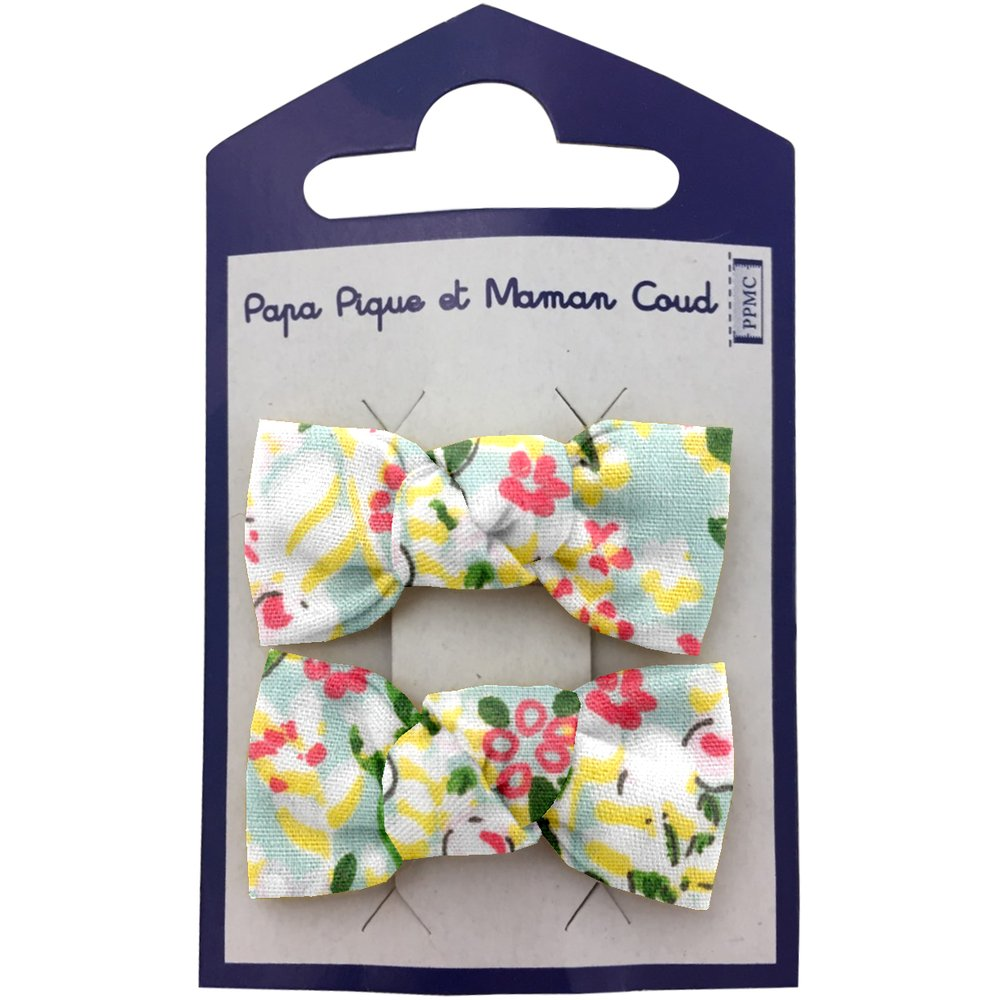 Small bows hair clips menthol berry