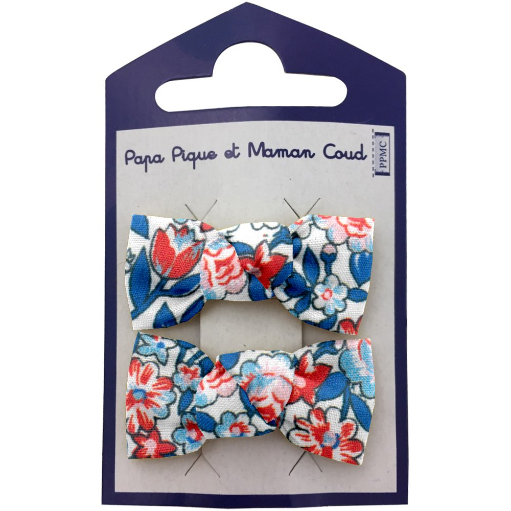 Small bows hair clips flowered london