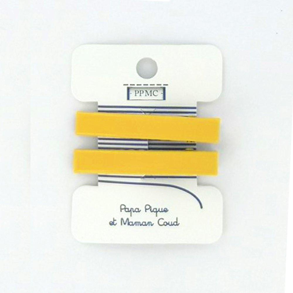 Barrette croco moyenne jaune cr038