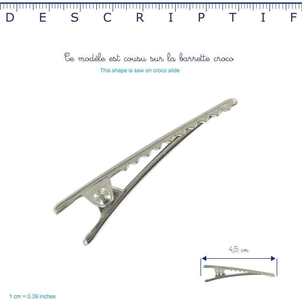 Barrette croco moyenne cr046