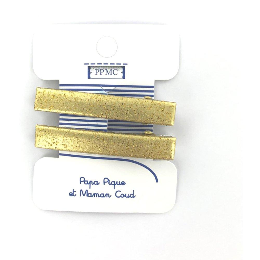 Barrette croco moyenne doré cr047