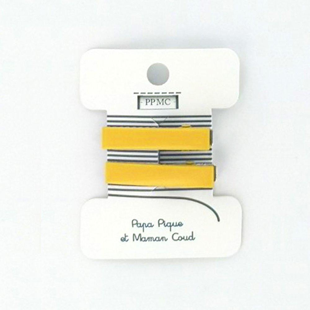 Petite barrette croco jaune cr038