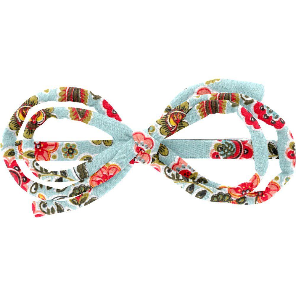 Barrette noeud arabesque  corolle
