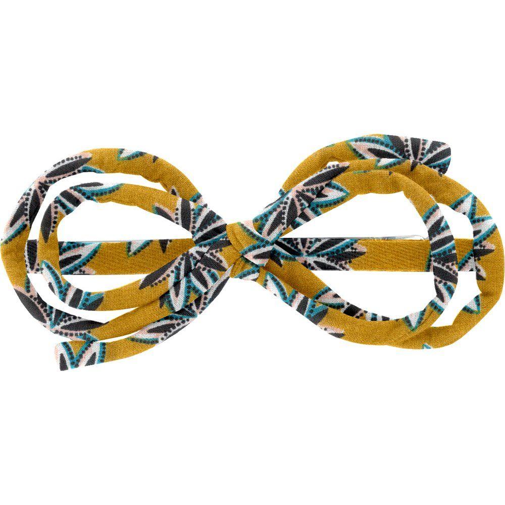 Barrette noeud arabesque etoile anisée
