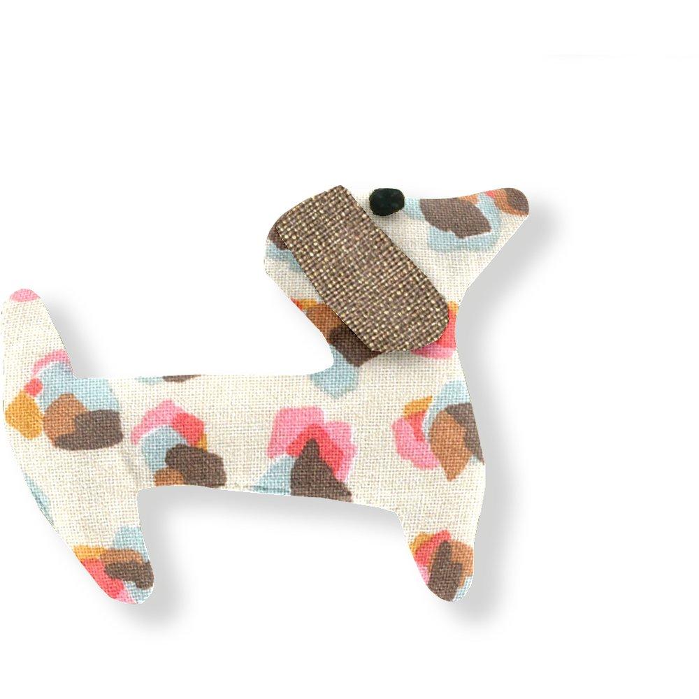 Basset hound hair clip confetti aqua
