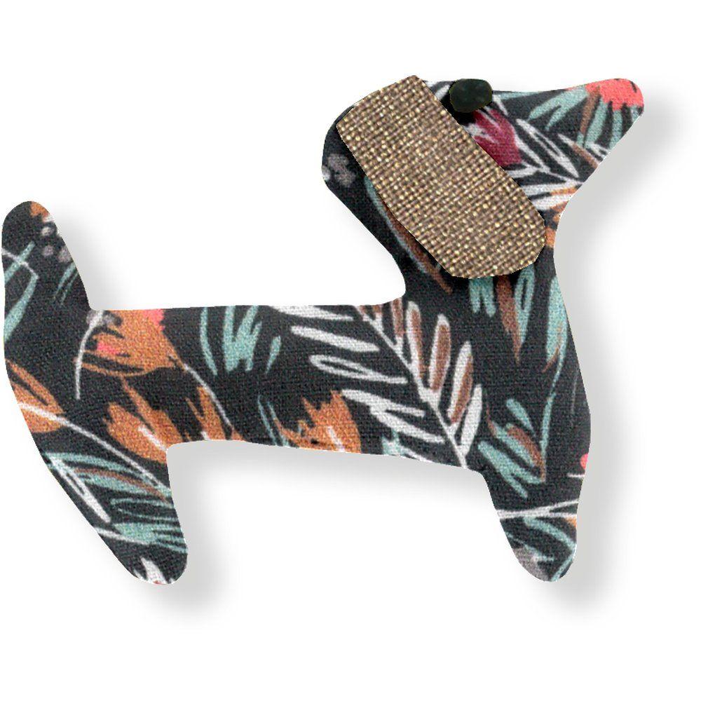 Pasador de pelo en forma de perro hierbas