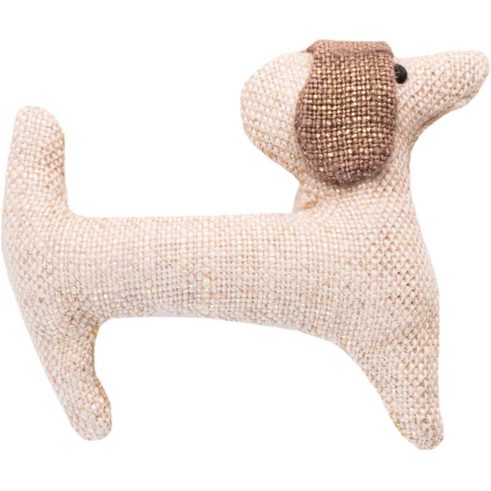 Basset hound hair clip  glitter linen