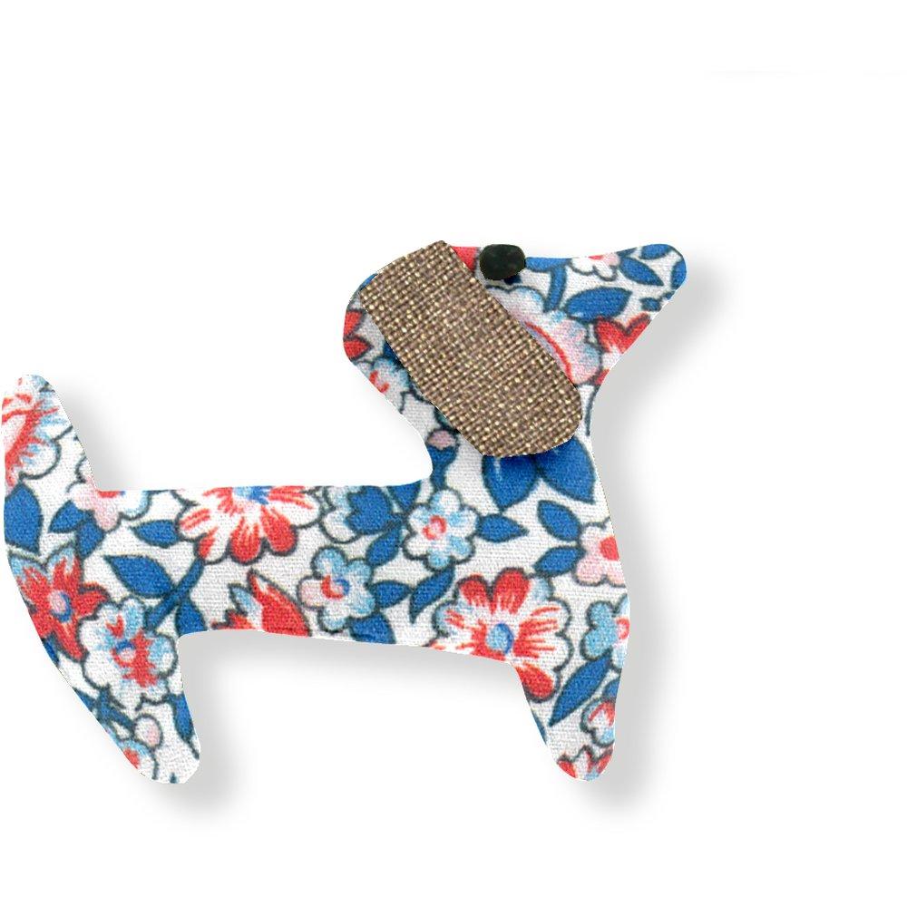 Basset hound hair clip flowered london