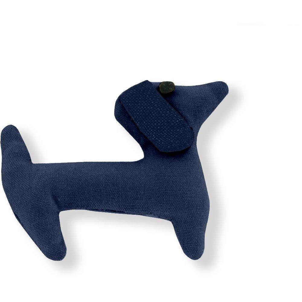 Basset hound hair clip navy blue