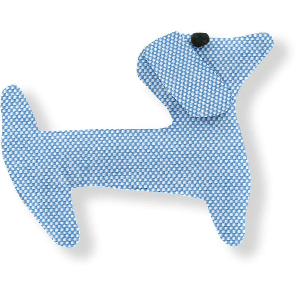 Barrette basset oxford ciel