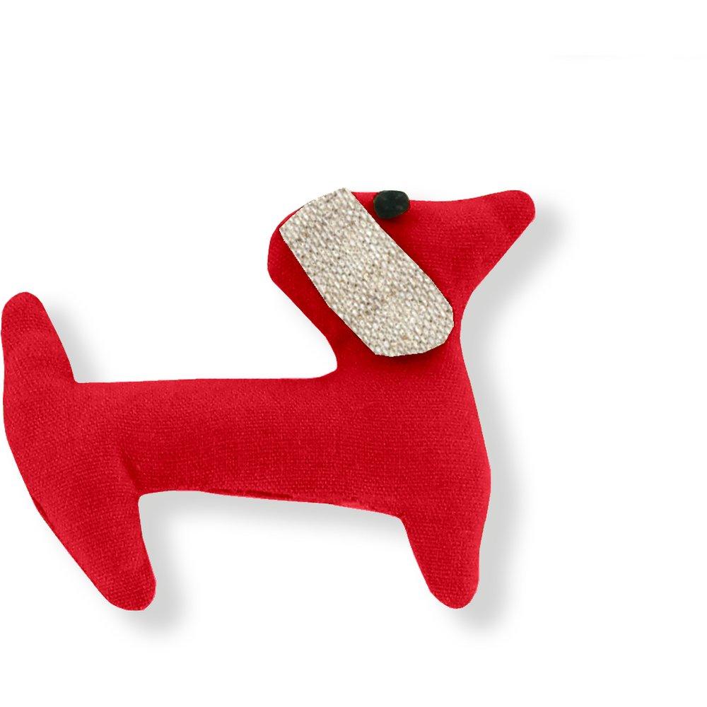 Basset hound hair clip tangerine red