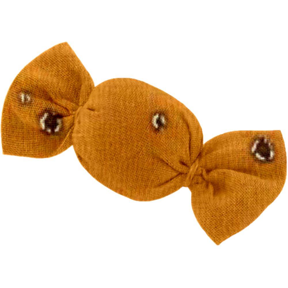 Petite barrette mini bonbon gaze jaune or