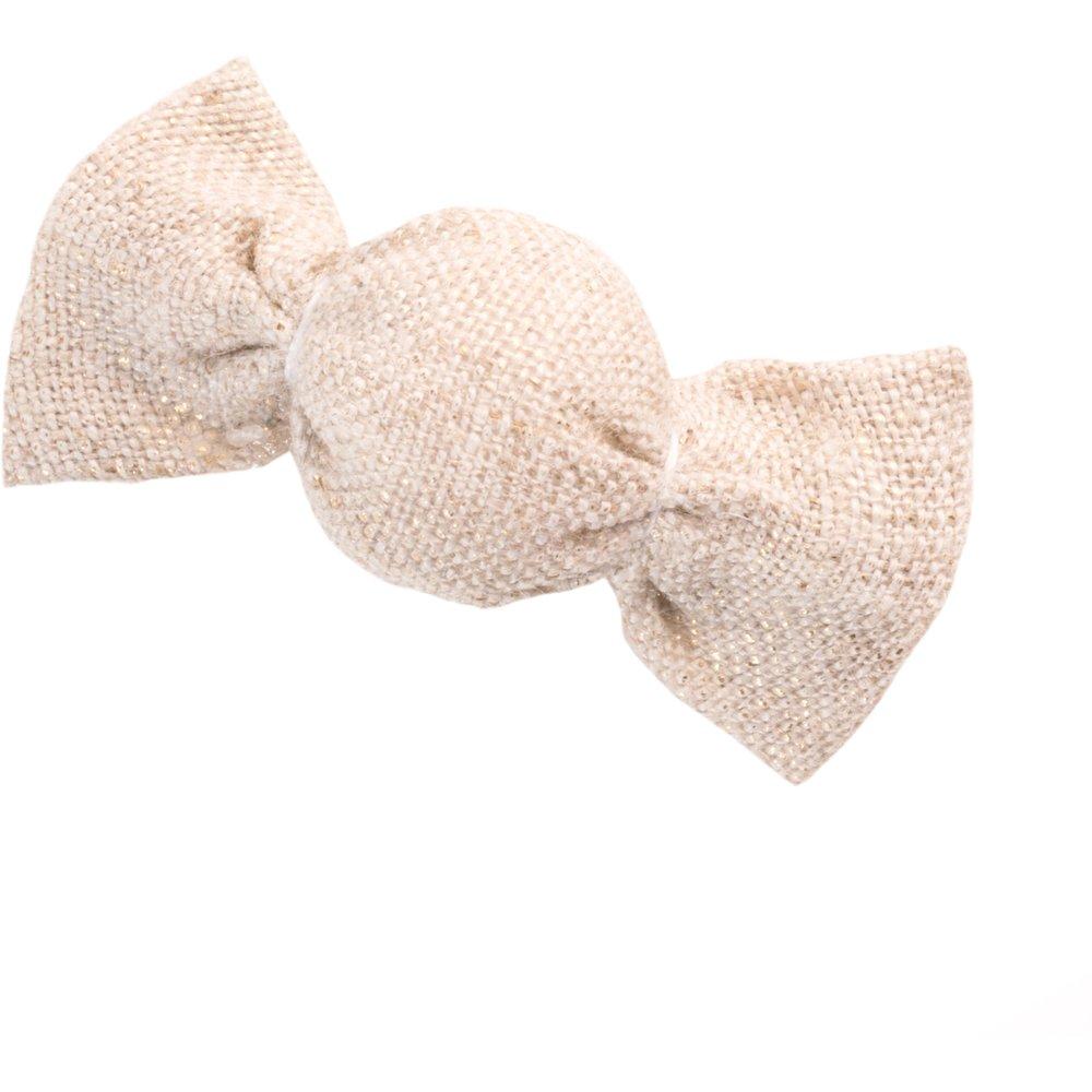 Petite barrette mini bonbon  lin pailleté