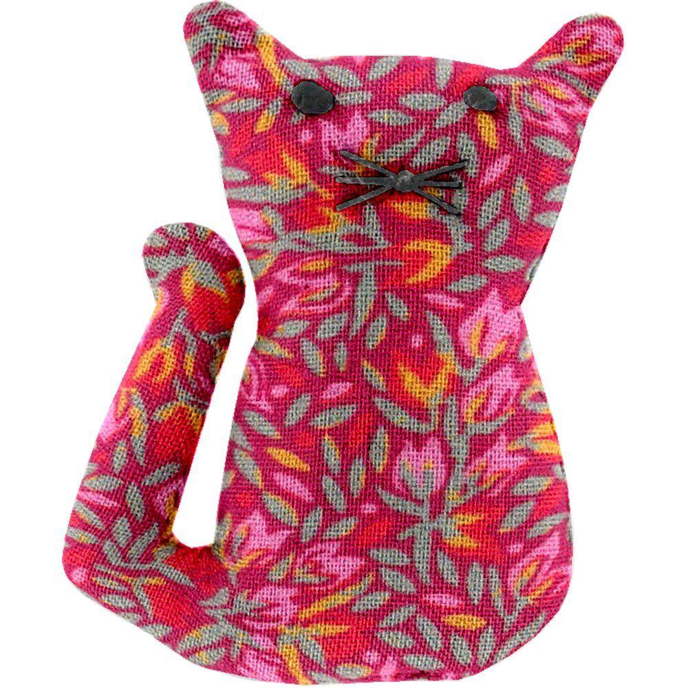 Petite barrette chat crocus groseille