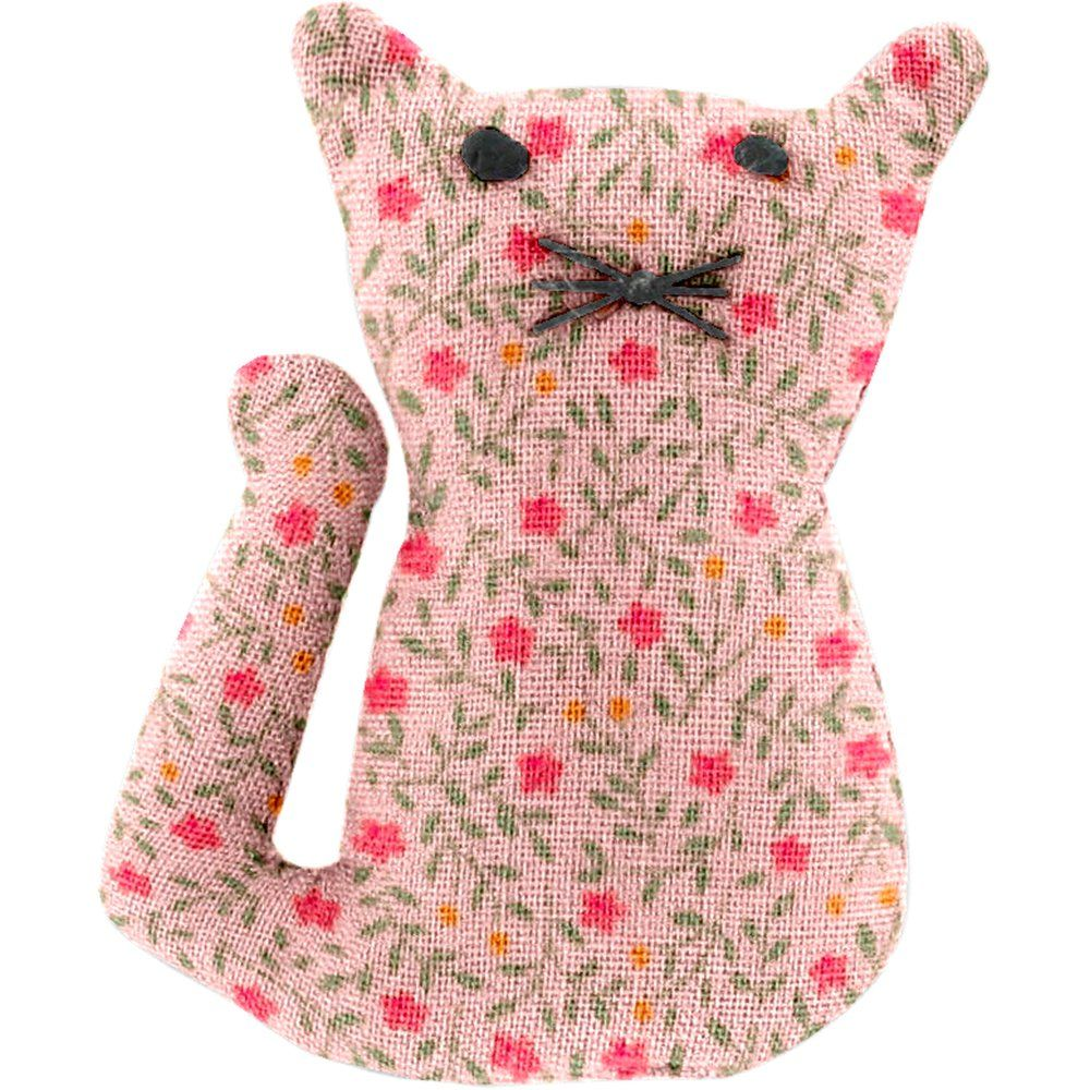 Petite barrette chat mini fleur rose
