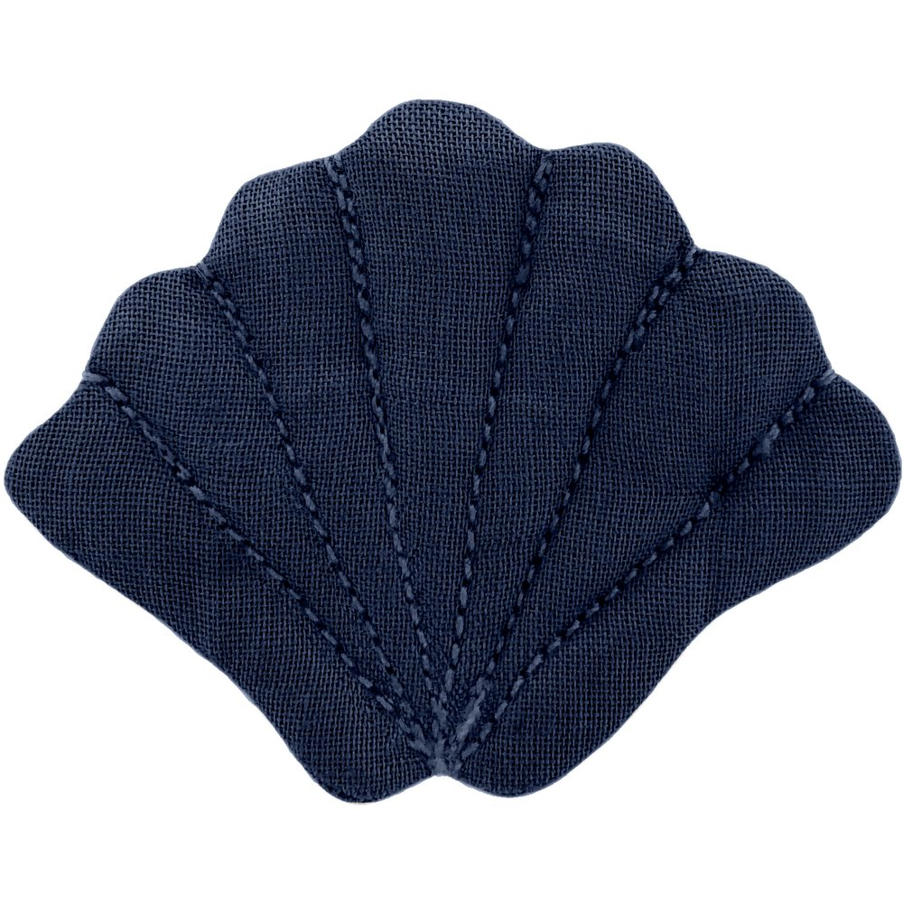 Shell hair-clips navy blue
