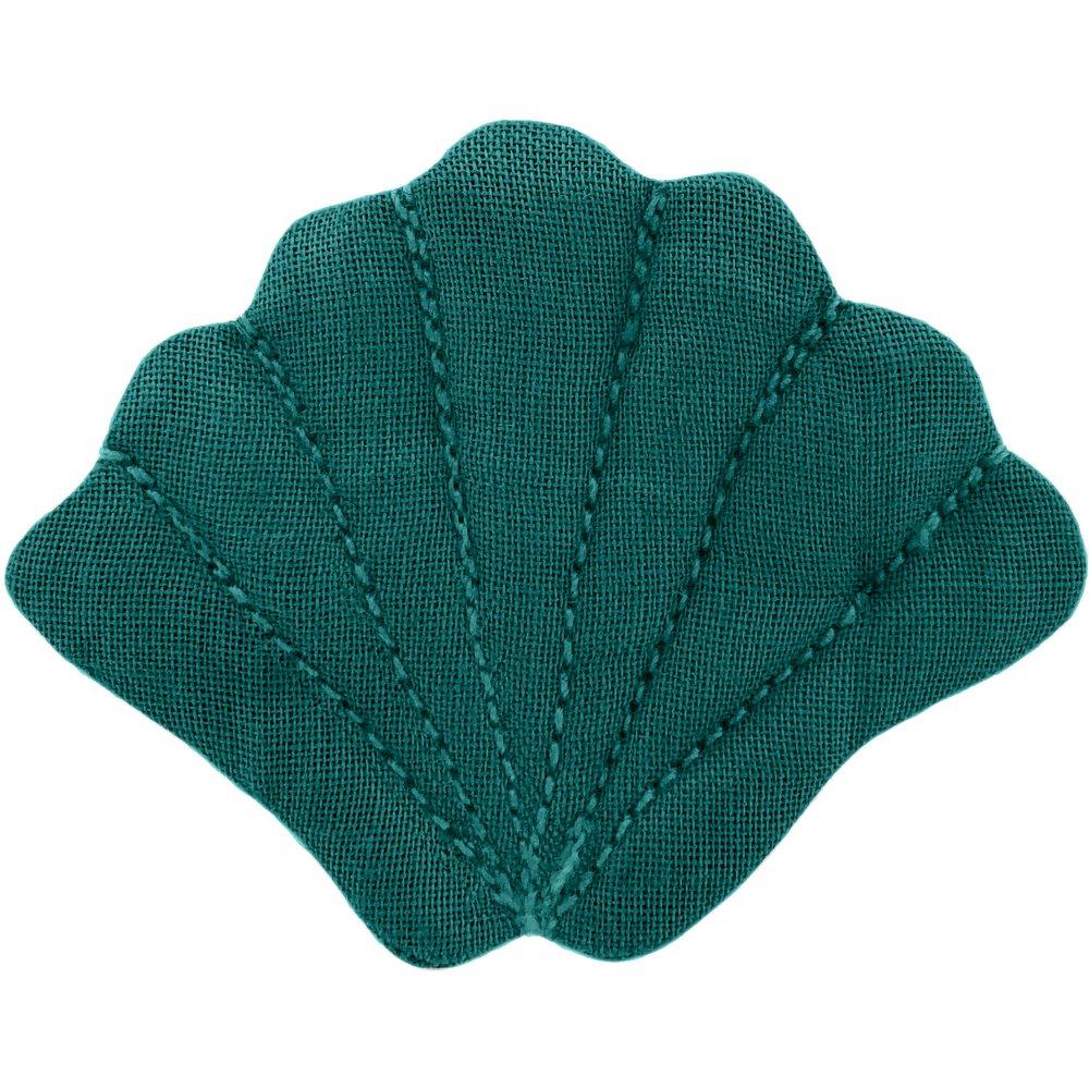 Pasador marisco verde esmeralda