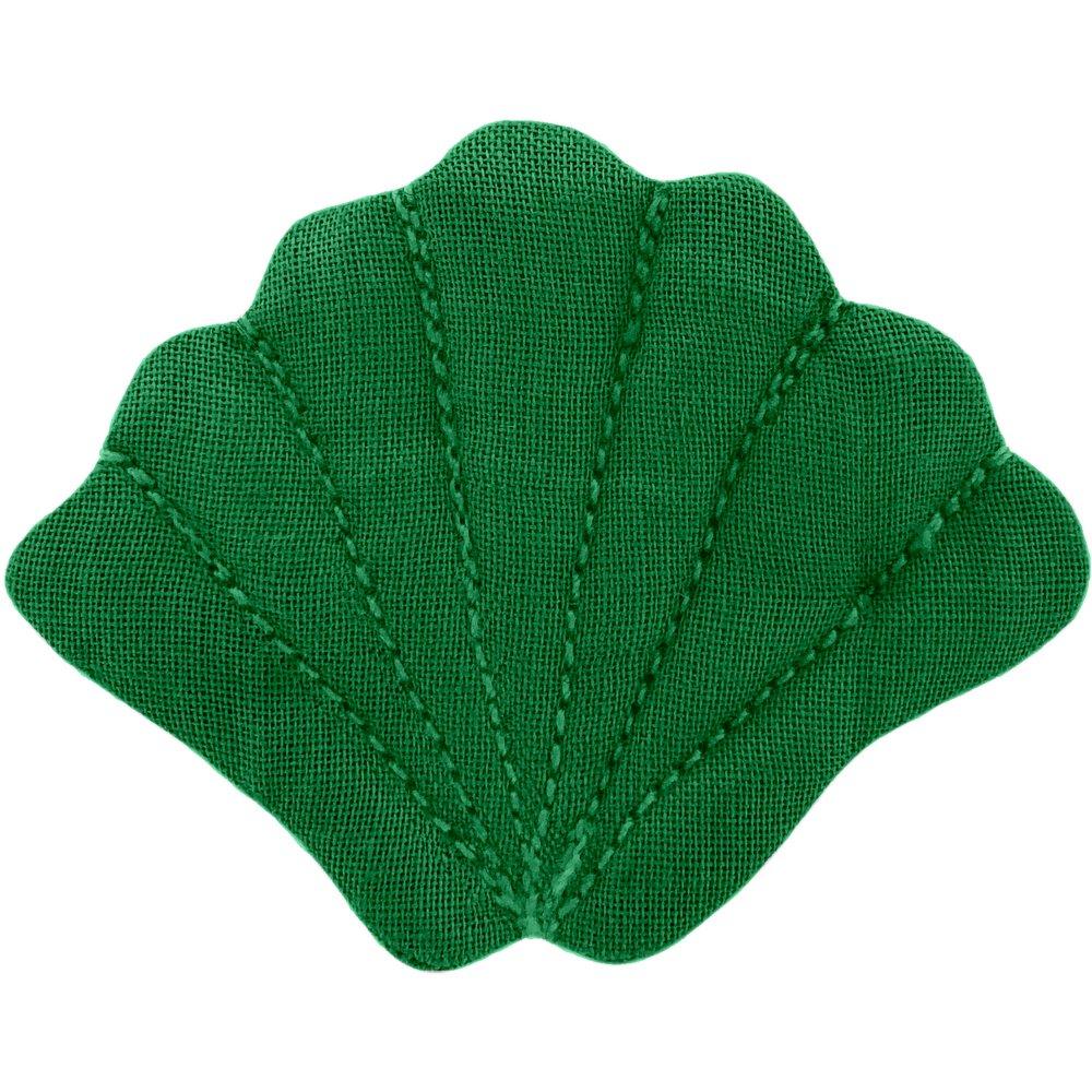 Shell hair-clips bright green