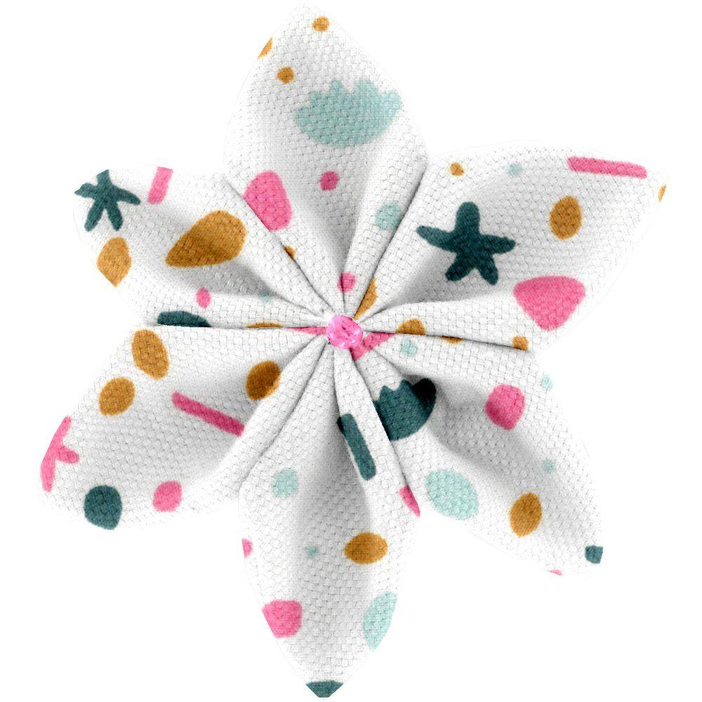 Star flower 4 hairslide sea side