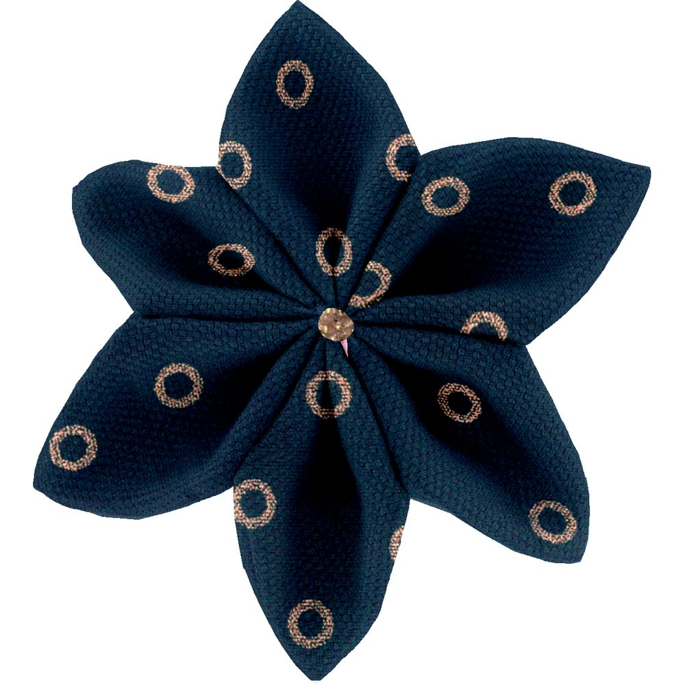 Star flower 4 hairslide bulle bronze marine
