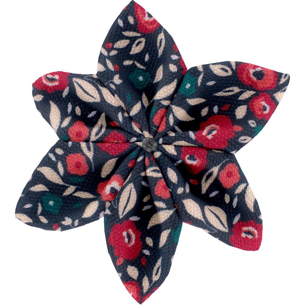 Star flower 4 hairslide camelias rubis
