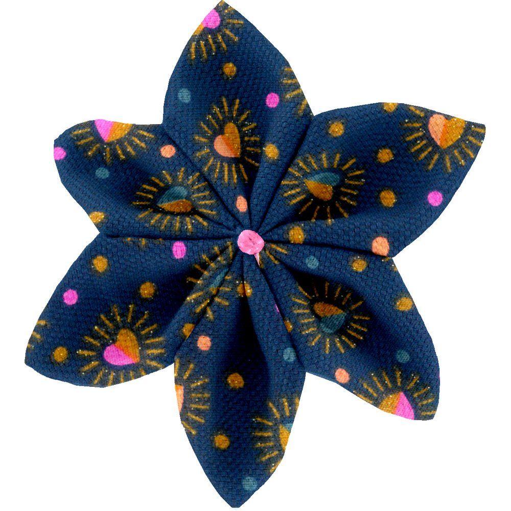 Pasador flor estrella corazón brillante