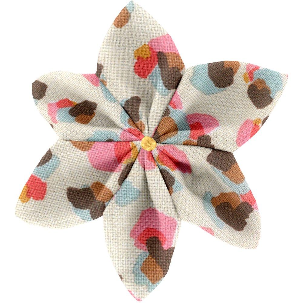 Barrette fleur étoile 4 confetti aqua