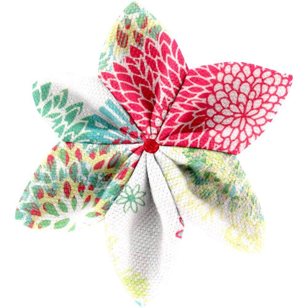 Barrette fleur étoile 4 dahlia poudré