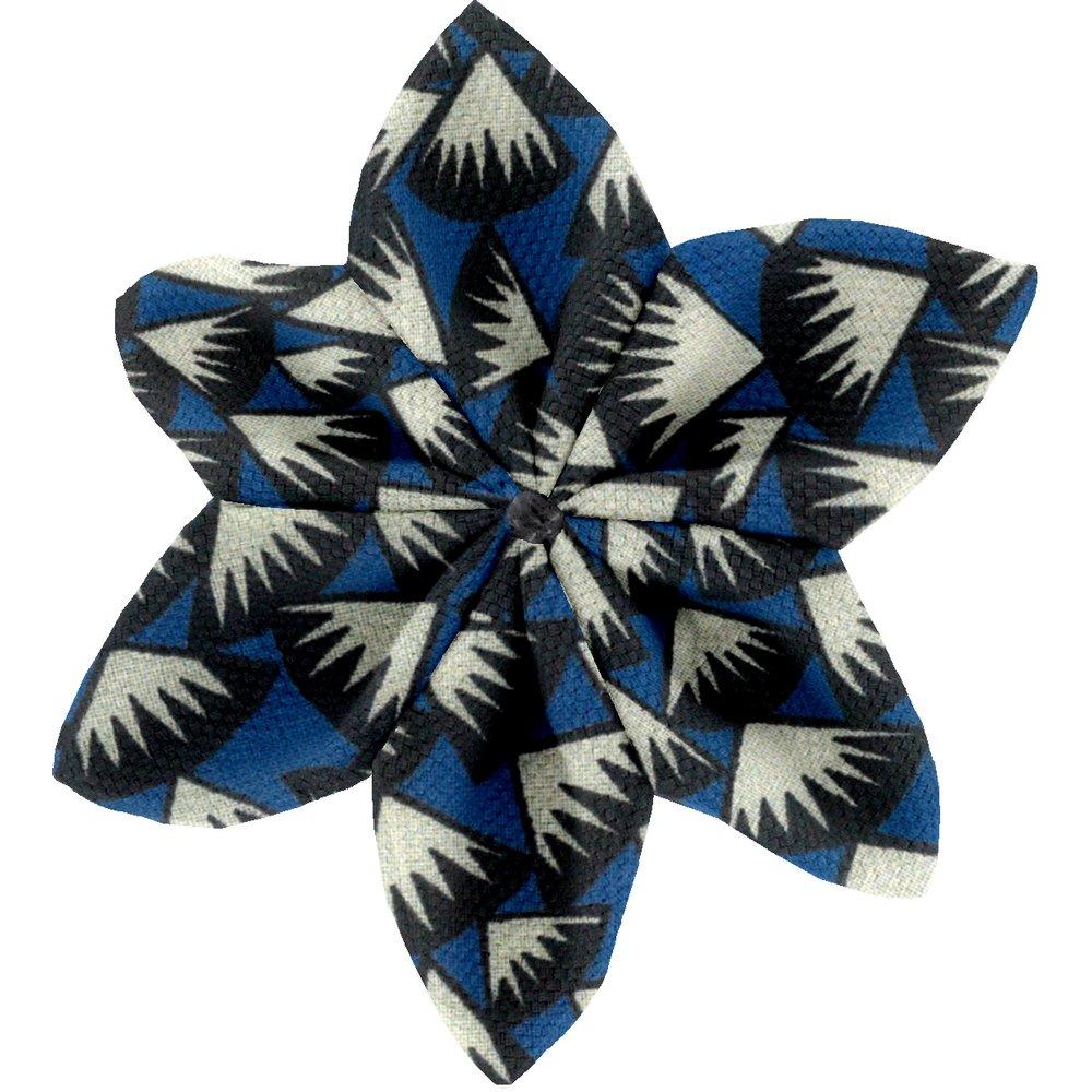 Pasador flor estrella piezas azul noche