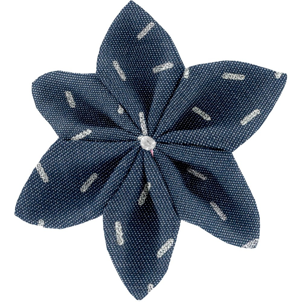 Star flower 4 hairslide silver straw jeans