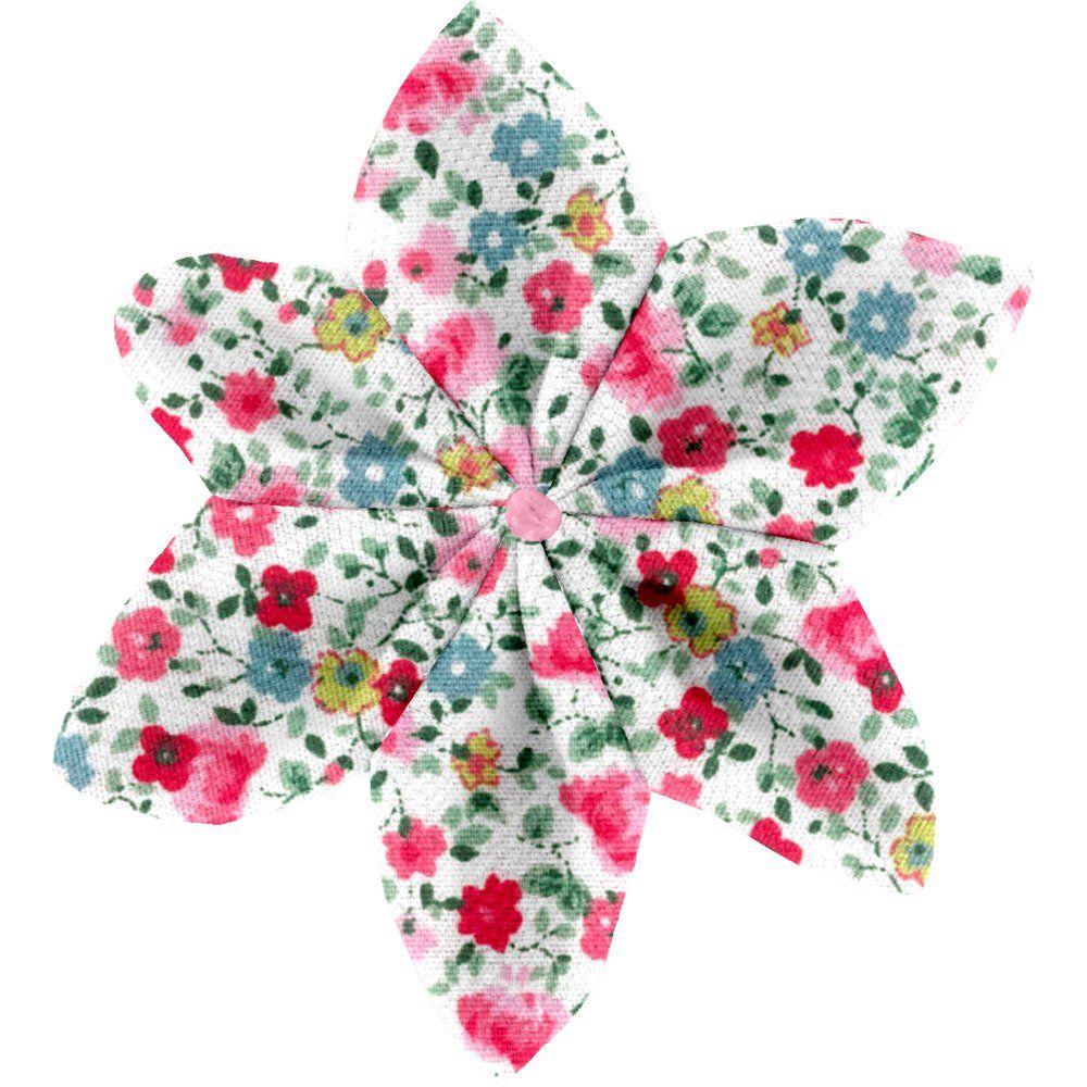 Barrette fleur étoile 4  roseraie