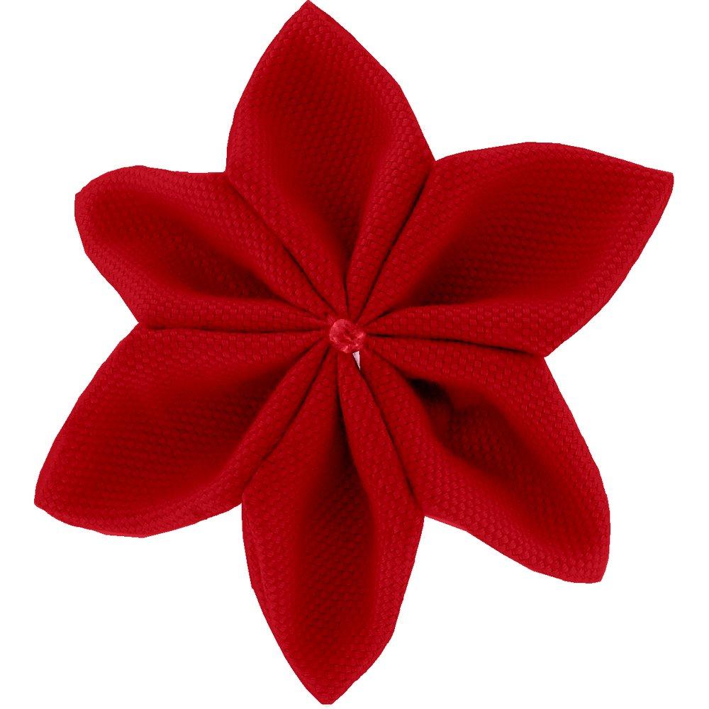Star flower 4 hairslide red