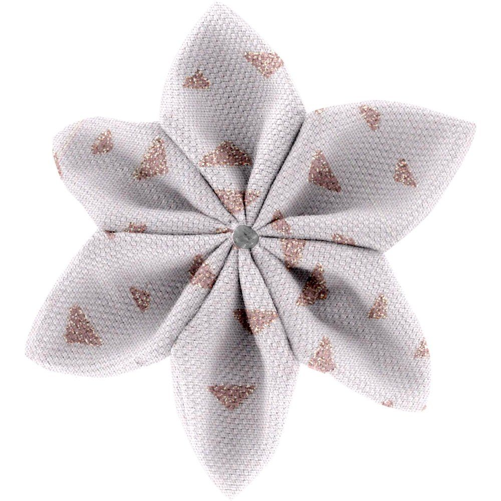 Star flower 4 hairslide triangle cuivré gris