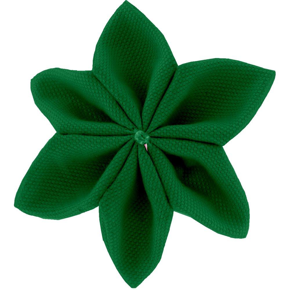 Barrette fleur étoile 4 vert vif