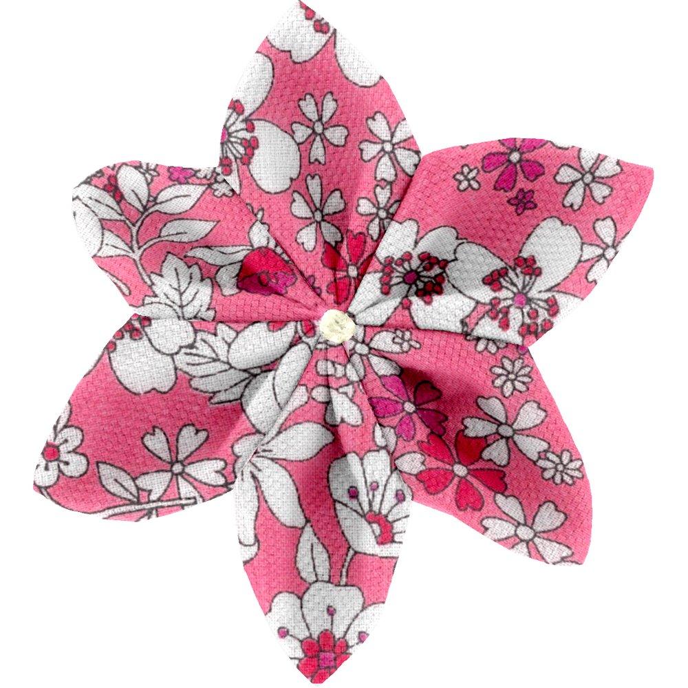 Barrette fleur étoile 4 violette rose