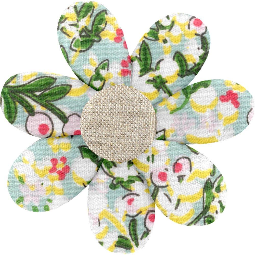 Pasador flor margarita  baya de mentol