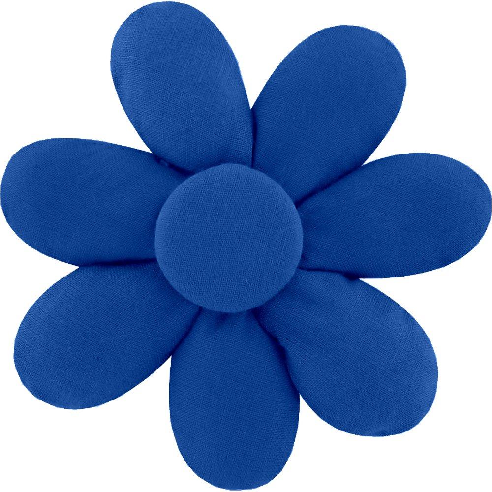 Pasador flor margarita  azul marino