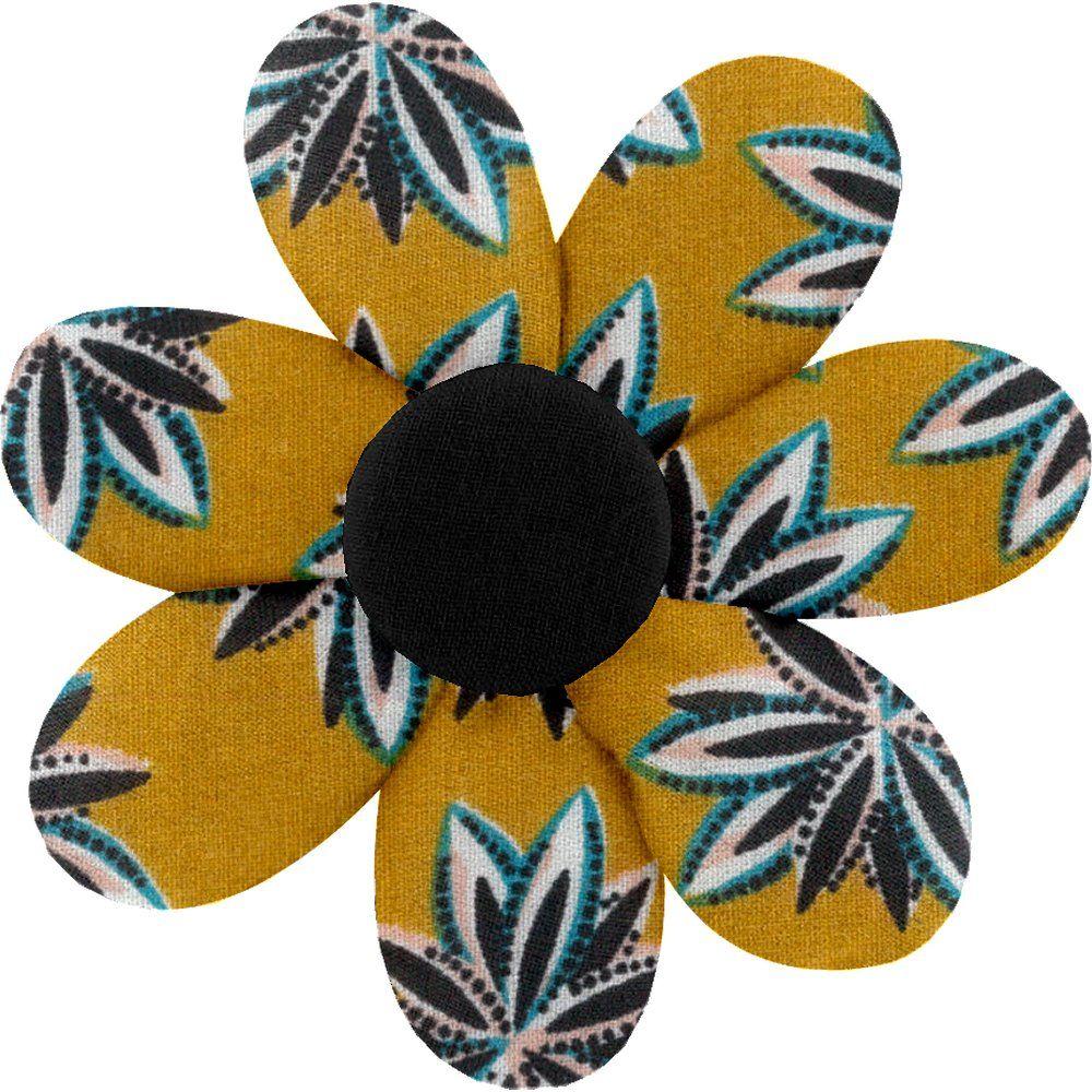 Barrette fleur marguerite etoile anisée