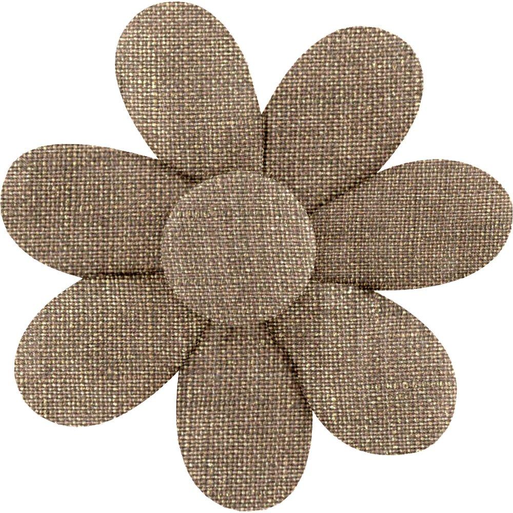 Fabrics flower hair clip copper linen