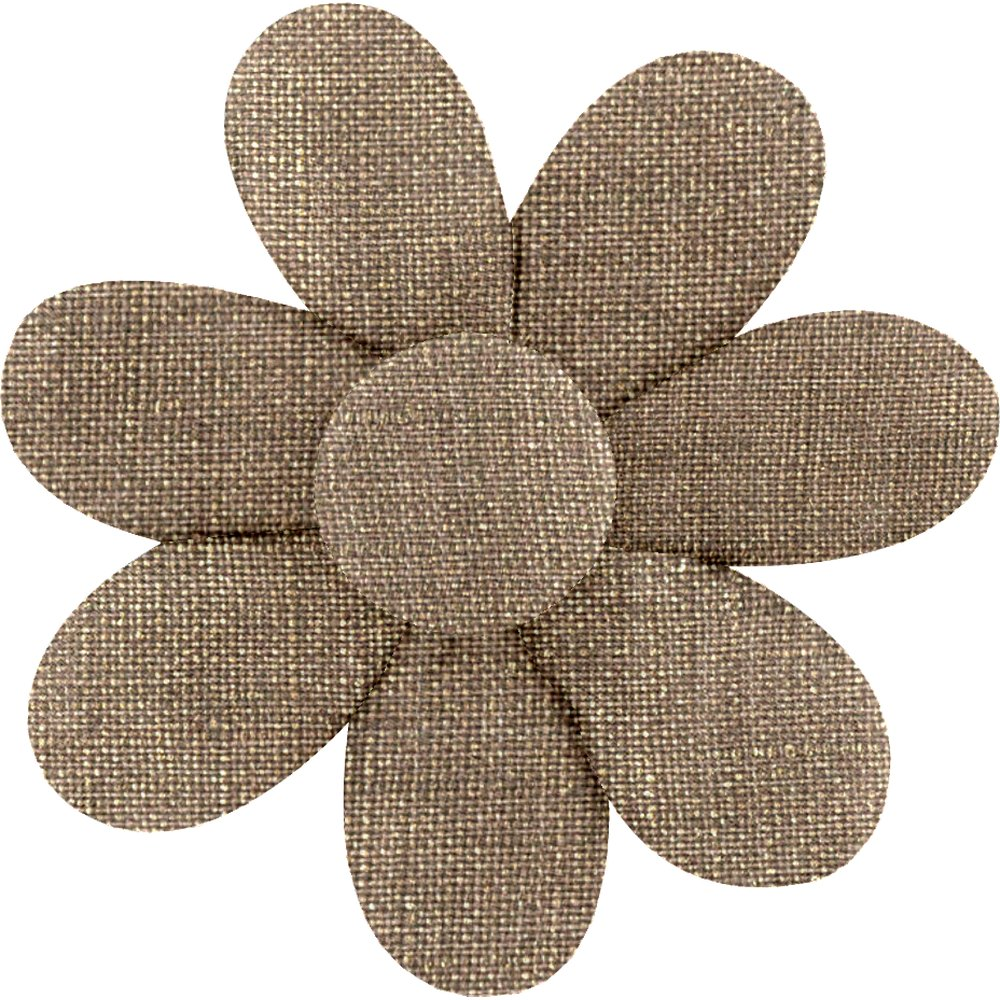 Barrette fleur marguerite lin or