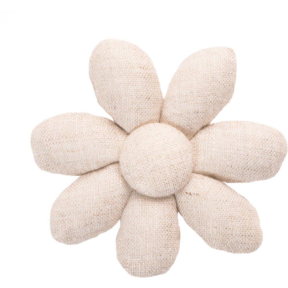 Barrette fleur marguerite  lin pailleté