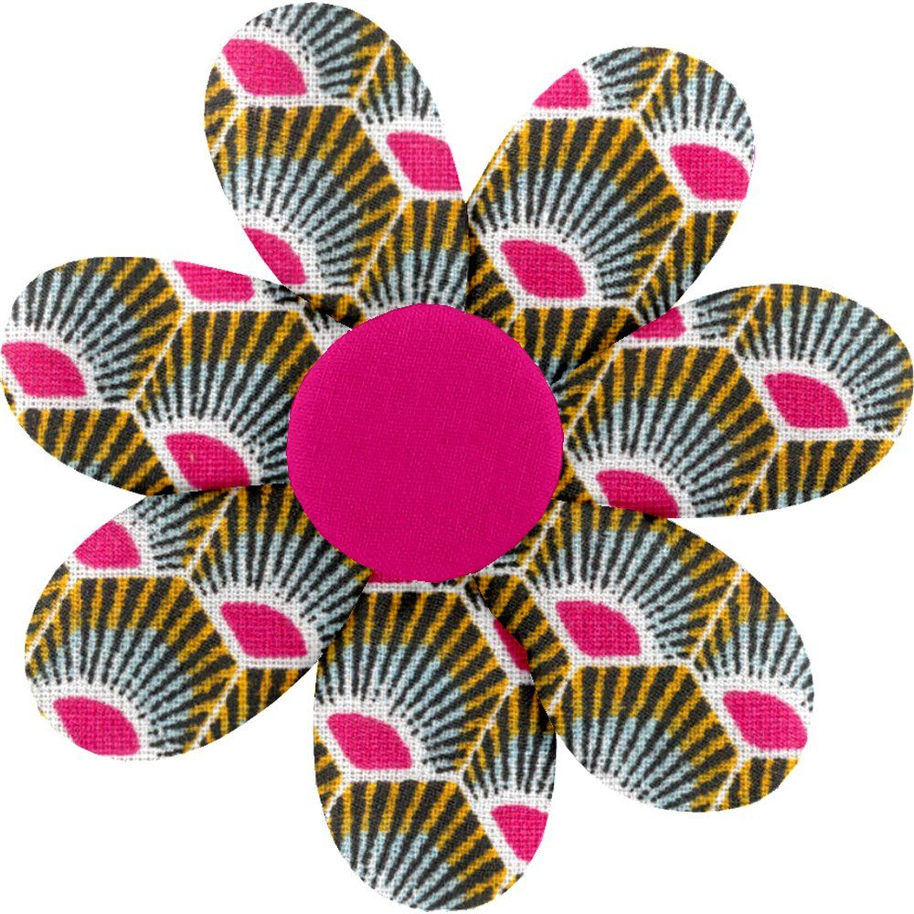 Fabrics flower hair clip palmette
