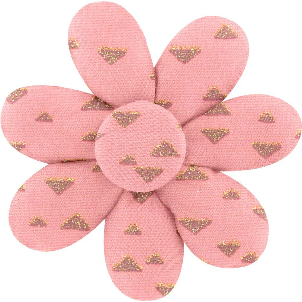 Barrette fleur marguerite triangle or poudré